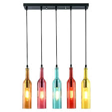 wine bottle pendant light decolombia co