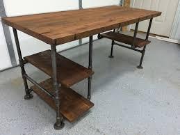 computer desk reclaimed wood