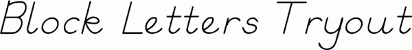 block letters tryout free font