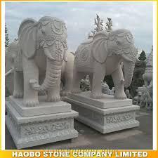handmade garden stone large elephant