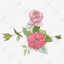 زهرة الملصقات العناصر الإبداعية الزهور الحمراء Png وملف Psd