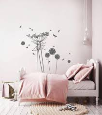 Woodland Wall Decals Nursery Decals Flowers Wall Stickers Etsy