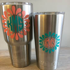 Thesaltykiss Shared A New Photo On Etsy Yeti Cup Designs Decals For Yeti Cups Yeti Monogram