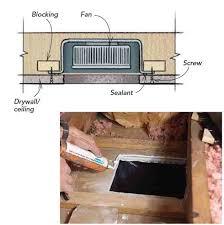 bedroom ceiling exhaust fan