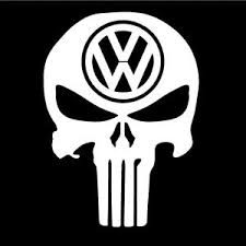 Punisher Skull Vw Volkswagen Window Decal Sticker Custom Sticker Shop