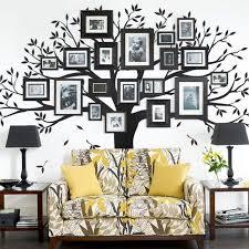 Family Tree Wall Decal Black 95 W X 80 H Inches Small Walmart Com Family Tree Wall Decal Tree Wall Decal Family Tree Wall Decor