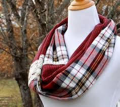 infinity scarf tutorial plaid lace
