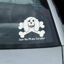 Fear The Pirate Cavalier Decal Sew Dog Crazy