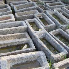 garden old stone troughs for