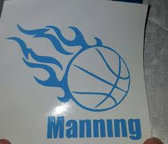 Personalized Basketball Vinyl Decal With Your Name Number Or Etsy Basketball Vinyl Decal Vinyl Decals Basketball Decal