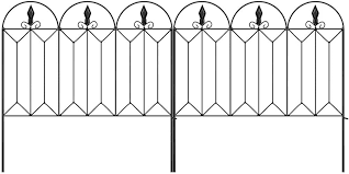 Decorative Garden Fence 60 X 300 Cm Outdoor Rustproof Metal Landscape Wire Fencing Folding Wire Patio Fences Flower Bed Animal Dogs Barrier Border Edge Section Edging Decor Picket Black Afsvfp Fr