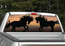Wild Horses Sunset Silhouette Rear Window Decal Graphic For Truck Suv Ebay