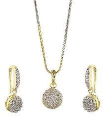 design american diamond pendant set