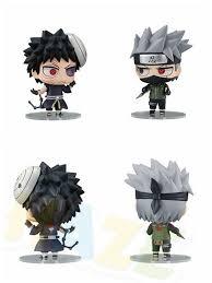 Anime Naruto Hatake Kakashi Uchiha Obito Q Ver. Action Figure Toys ...