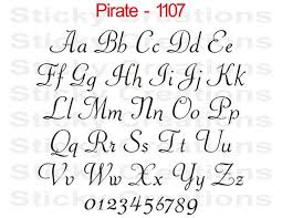 Custom Text Pirate Font Script Customized Personalized Letters Etsy