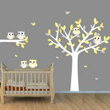 Owl Wall Decal With Tree Boys Room Tree Decals Owl Stickers 12 Owl Tree Blue Orange 12rot Owl Baby Rooms Owl Wall Art Nursery Nursery Wall Decals