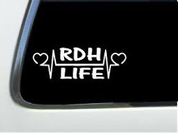 Thatlilcabin Rdh Life Heartline As844 8 Sticker Dental Hygienist Decal Gift Ebay