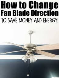ceiling fan direction to save money