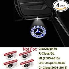 Amazon Com 4pcs Led Car Door Logo Light Emblem Projector Ghost Shadow Welcome Light For Mercedes Benz C W205 E Class W212 W213 X253 A W176 W177 Accessories Automotive