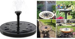 solar fountain pump garden
