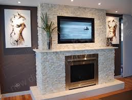 beautiful stone wall with gas fireplace