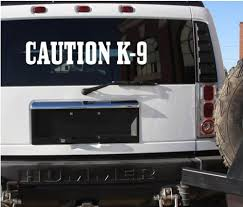 K9 Decal Caution K9 C230 Schutzhund Police Guard Dog 6x30 Large Decal Sticker Sandra H Tumlinre