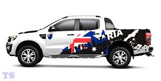 Trim Australia Flag Sticker Cover Car Decal Vinyl For Ford Ranger 4dr T6 12 15 Ebay