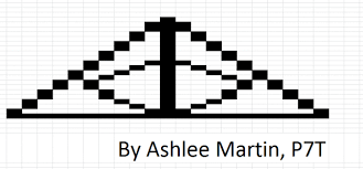 Ashlee Martin Deathly Hallows Pixel Art | Kinloss Primary School