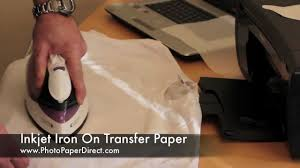 Iron On Transfer Paper Tutorial By Photo Paper Direct Youtube