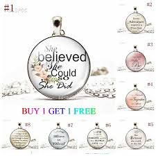 pcs lot she believes she can so she dia glass cabochon