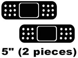 2x Band Aid Sticker Decal Car Vinyl Jdm Bandaid Bandaids Bandage Auto Parts And Vehicles Car Truck Graphics Decals Explotools Cl