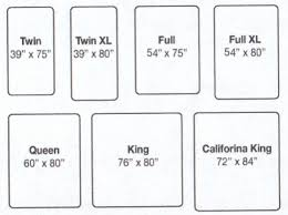 mattress sizes chart king size bed