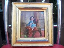 Famous oil painting Rocking Horse by Henrietta May Ada Ward 1832-1924 |  #464348117
