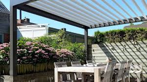 outdoor patio adjustable louver roof