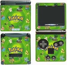 Pokemon Leaf Green Bulbasaur Go Video Game Vinyl Decal Skin Sticker Cover For Nintendo Gba Sp Gameboy Advance System Wantitall