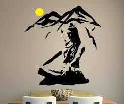 Lord Shiva Wall Sticker Yoga Lotus Pose Vinyl Wall Decal Mountain Meditation Home Decoration Hindu God Removable Art Muralsyy463 Vinyl Wall Decals Wall Stickerwall Decals Aliexpress