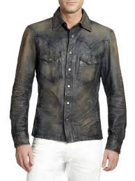 ralph lauren western distrssed leather