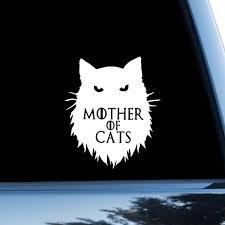 Game Of Thrones Car Sticker Cat Car Decal Daenerys Targaryen Etsy