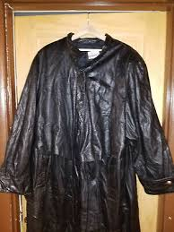 womens coat long genuine leather duster