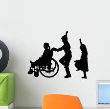 Vector Silhouette Of Children Wall Decal Wallmonkeys Com
