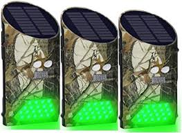 Amazon Com Lilbees Solar Deer Feeder Lights Motion Activated Green Hog Lights For Predator Coyote Pig Varmint Night Hunting G300 Pack Of 3 Sports Outdoors