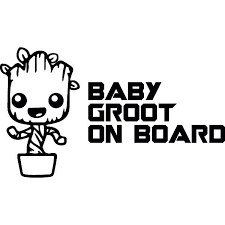 Baby Groot On Board Cars Decals Guardians Of The Galaxy Marvel Movie Wallstickers Passion Stickers