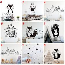 Cartoon Tribal Animals Vinyl Wall Sticker For Kids Room Decoration Babys Bedroom Decor Decals Stickers Bear Fox Art Wallpaper Wish