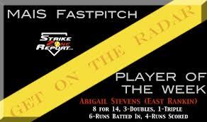Player of the Week-2024 3B Abigail Stevens – Strike Zone Report
