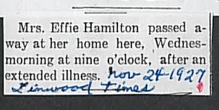 Documents: agnes effie hamilton 01.jpg: Linwood History & Genealogy