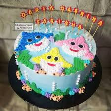 baby shark birthday cake ideas