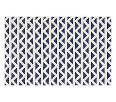 Triangles Rug Navy Patterned Rugs Pottery Barn Kids