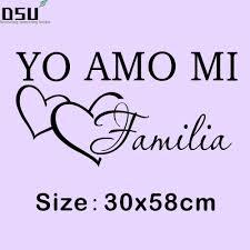 new yo amo mi familia spanish vinyl wall sticker love