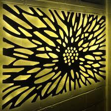 Benbecula Laser Cut Decorative Metal Wall Art Panel Garden Wall Sculpture Decorative Panel With Optional Back Lighting