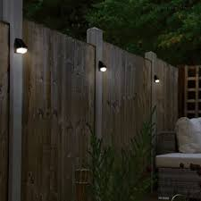 Deck Fence Led Solar Power Dusk To Dawn Wall Pack Pack Of 6 In 2020 Solar Fence Lights Solar Wall Lights Solar Lights Garden